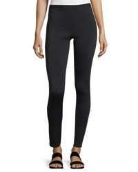 Helmut Lang Cropped Neoprene Stretch Leggings Black