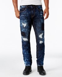 Sean John Men's Destructed Jeans Bedford Blue Destructed