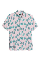Barney Cools Holiday Woven Shirt Pink Fern