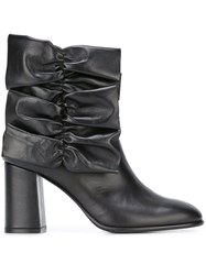Msgm Gathered Detail Boots Black