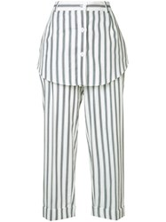 Monse Striped Skirt Trousers White