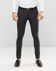 Asos Super Skinny Fit Suit Trousers In Charcoal Charcoal Grey