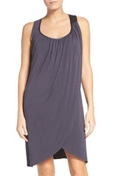 Midnight By Carole Hochman Women's Chemise Magnetic Gray