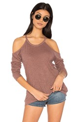 Lanston Exposed Shoulder Tee Red