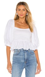 Cynthia Rowley Lily Smocked Top In White.