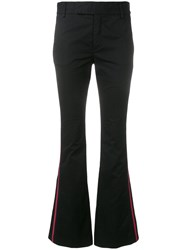Femme By Michele Rossi Side Stripe Flared Trousers Black
