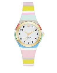Kate Spade Goldtone Stainless Steel And Multi Colored Strap Watch