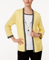 Alfred Dunner Layered Look Sweater Yellow