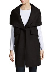 Derek Lam Wool Blend Long Sleeve Coat Black