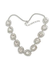 Belle By Badgley Mischka Crystal Link Necklace Silver