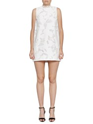 French Connection Deka Embroidered Mini Dress Summer White