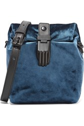 Opening Ceremony Athena Velvet Shoulder Bag Blue
