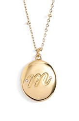 Women's Kate Spade New York Initial Locket Pendant Necklace Gold M