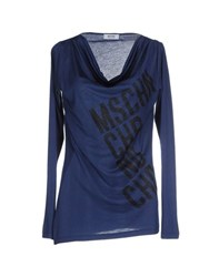 Moschino Cheap And Chic Moschino Cheapandchic Topwear T Shirts Women Dark Blue