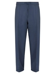 Dunhill Relaxed Wool Trousers Navy