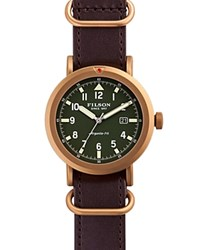 Filson The Scout Watch 45.5Mm Green Brown