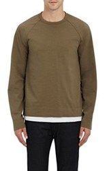 James Perse Long Raglan Sleeve T Shirt Green