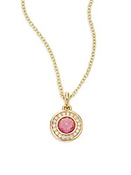 Ippolita Lollipop Diamond Pink Tourmaline And 18K Yellow Gold Pendant Necklace
