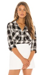 Sanctuary New Generation Boyfriend Shirt In Black. Be Real Plaid