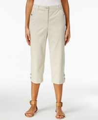 Karen Scott Twill Cropped Capri Pants Only At Macy's