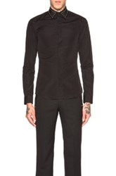 Givenchy Studded Collar Shirt In Black