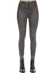 J Brand Lillie High Rise Boa Print Coated Jeans Brown