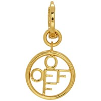 Off White Gold Circle Single Earring