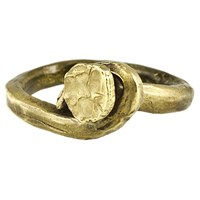 M. Cohen Rusty Nail Ring Brass
