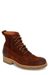 Frye Men's Rainier Waxed Work Boot Rust Waxed Suede