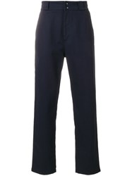 Salvatore Ferragamo High Waisted Chinos Blue