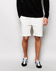 Solid Chino Shorts With Drawstring Offwhite