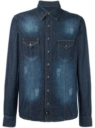 Philipp Plein Hiva Denim Shirt Blue