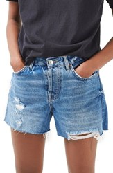 Topshop Women's Ashley Ripped Boyfriend Shorts