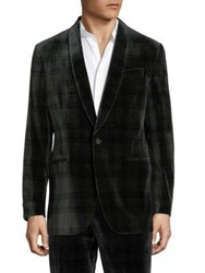 Polo Ralph Lauren Plaid Cotton Coat Dark Green