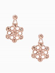 Kate Spade Crystal Lace Statement Earrings Rose Gold