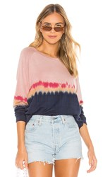 Velvet By Graham And Spencer Jamie Pullover In Pink.