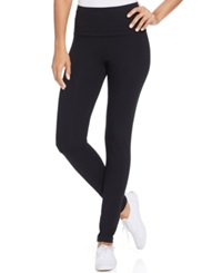 Style And Co. Sport Tummy Control Active Leggings Only At Macy's Deep Black
