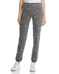 Wildfox Couture Knox Football Star Sweatpants Heather Dirty Black