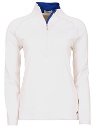 Green Lamb Cheryl Half Zip Tech Polo White