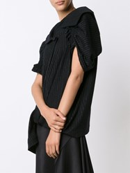Y's Gather Sleeves Top Black