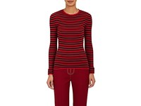 Philosophy Di Lorenzo Serafini Women's Striped Cotton Long Sleeve Shirt Red