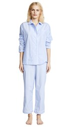 Sleepy Jones End On End Bishop Pajama Set Blue