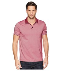 Perry Ellis Essential End On End Polo Rhododendron Clothing Red