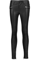 Rta Leather Skinny Pants Black