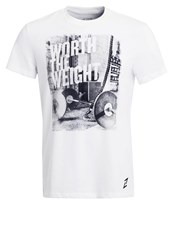 Your Turn Active Print Tshirt Bright White