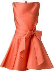 Lanvin Sash Bow Belt Dress Pink And Purple