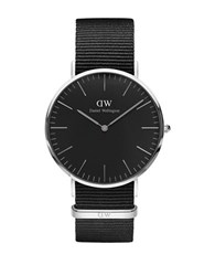Daniel Wellington Classic Black Cornwall Stainless Steel Nato Strap Watch