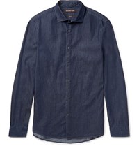 Michael Kors Slim Fit Denim Shirt Dark Denim