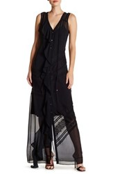 Haute Hippie Sleeveless Sheer Dress Black