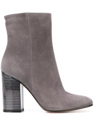 Gianvito Rossi Chunky Heel Ankle Boots Grey